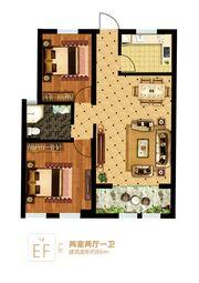 富安德森广场1# EF2室2厅86㎡
