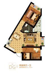 富安德森广场1# DG2室2厅73㎡