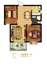 富安德森广场1# C2室2厅83㎡