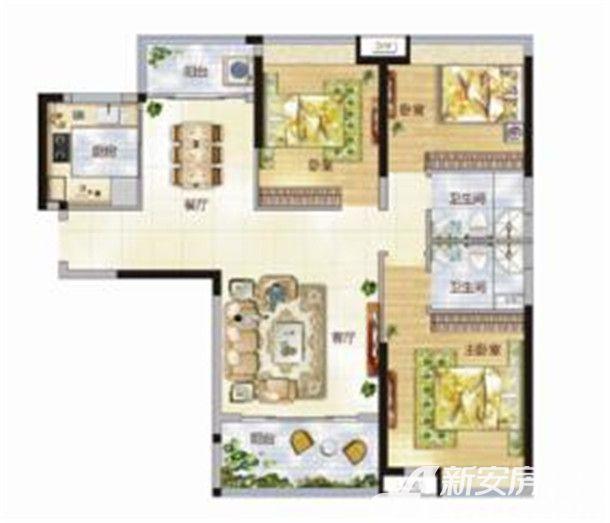 东菱城市新地B23室2厅119平米