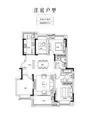 金科庐州樾127㎡标准层4室2厅127㎡