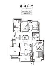 金科庐州樾127㎡顶层4室2厅127㎡