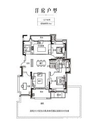 金科庐州樾140㎡一层3室2厅140㎡