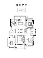 金科庐州樾140㎡顶层3室2厅140㎡