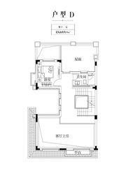 金科庐州樾D户型地上二层1室39㎡