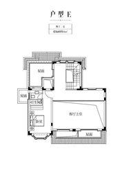 金科庐州樾E户型地上二层1室46㎡