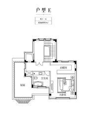 金科庐州樾E户型地上三层1室59㎡