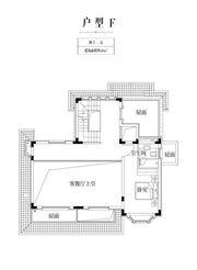 金科庐州樾F户型地上二层1室48㎡