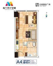 丰辉国际广场A4户型11室1厅46㎡