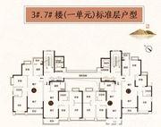 恒大悦府3#7#户型3室2厅103㎡
