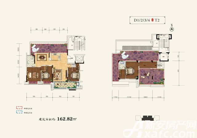 和顺沁园春顶层复式4室3厅162.82平米