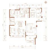 合肥万达城K8—E1户型4室2厅138㎡