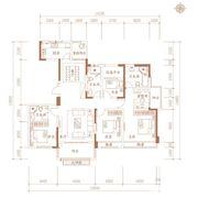 合肥万达城K8—F3户型4室2厅171㎡