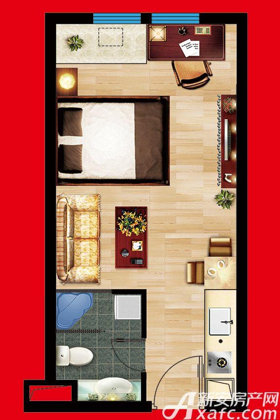 云鼎国际B座35平户型1室35平米