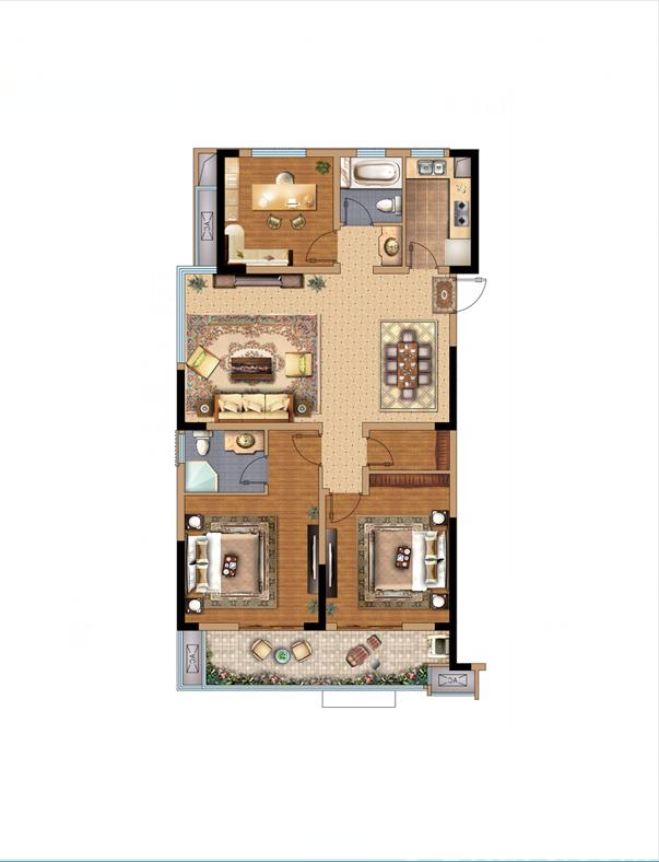 拓基鼎元里西边户3室2厅114平米
