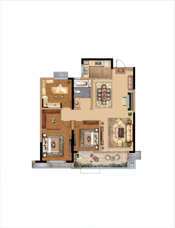 拓基鼎元里中户3室2厅110平米