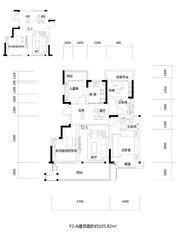 文一云溪湾Y2-A4室2厅105㎡