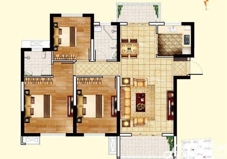 保利鑫城C43室2厅116平米