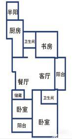 提香湾二期121㎡户型3室2厅121㎡