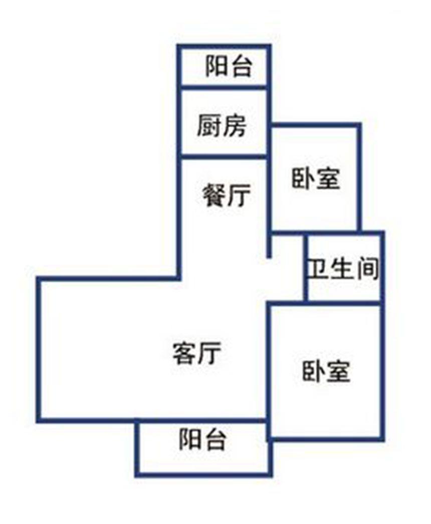 提香湾G3#顶层边户户型2室1厅186平米