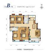 广源·缤纷城10#B户型4室2厅152.42㎡