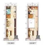 文一铂金中心55㎡户型3室1厅55㎡