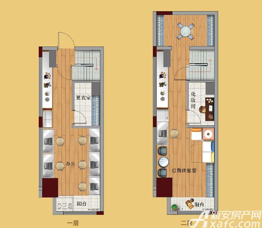 鼎鑫中心H1览悦1室1厅45平米