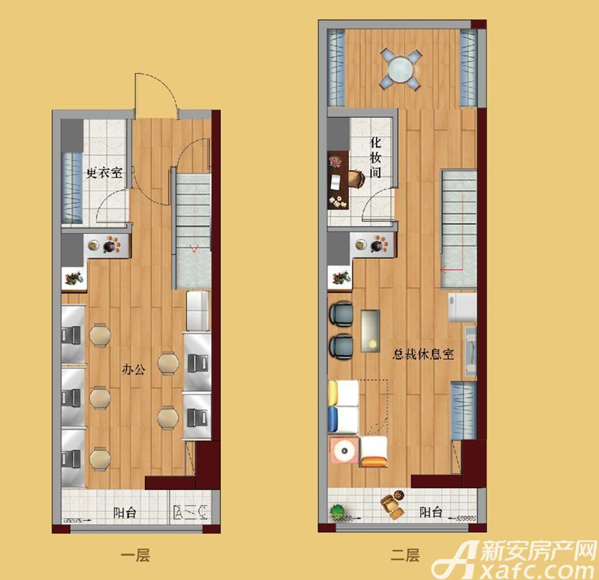 鼎鑫中心H2静悦1室1厅46平米