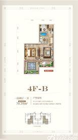 黄山上谷居4FB1室2厅70㎡