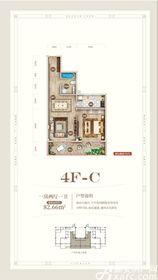 黄山上谷居4FC1室2厅82㎡