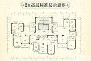 恒大林溪郡2#高层标准层3室2厅119.79㎡