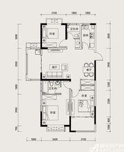 长虹世纪荣廷45#D1户型3室2厅120㎡