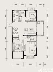 长虹世纪荣廷45#D2户型3室2厅120㎡
