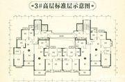 恒大林溪郡3#高层标准层3室2厅111.12㎡