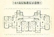 恒大林溪郡4#高层标准层3室2厅119.66㎡