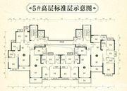 恒大林溪郡5#高层标准层3室2厅121.18㎡