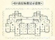 恒大林溪郡6#高层标准层3室2厅130.44㎡