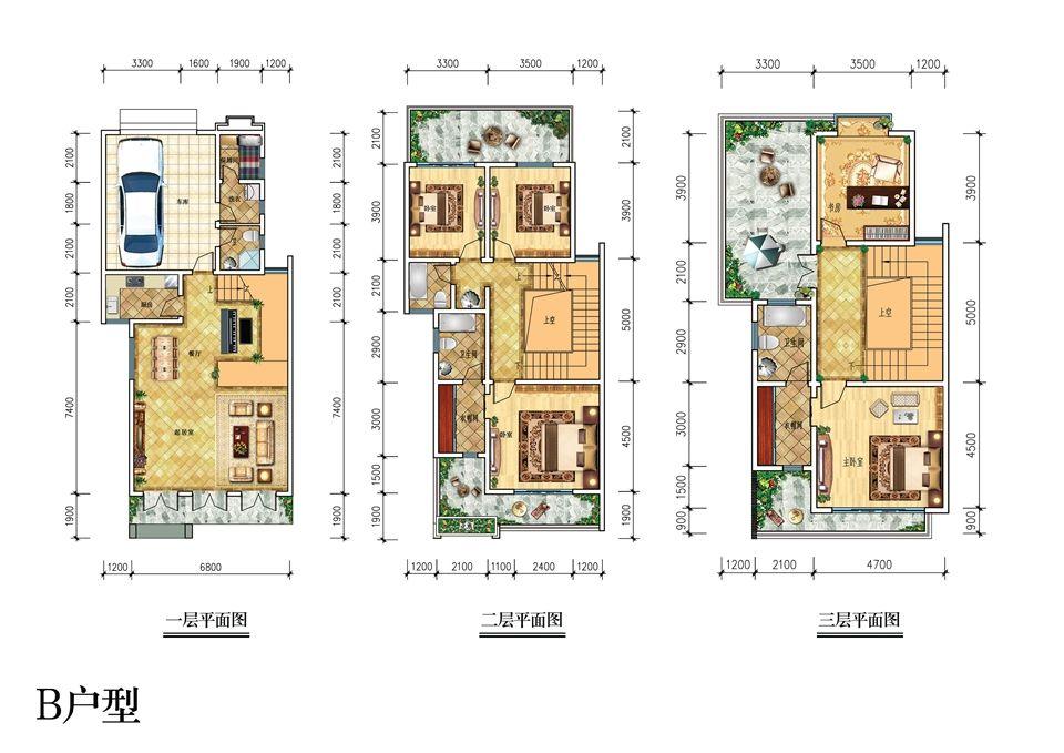 宿州文化创意小镇B户型5室2厅284.71平米