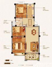 志城江山郡H21#B户型3室2厅90.93㎡