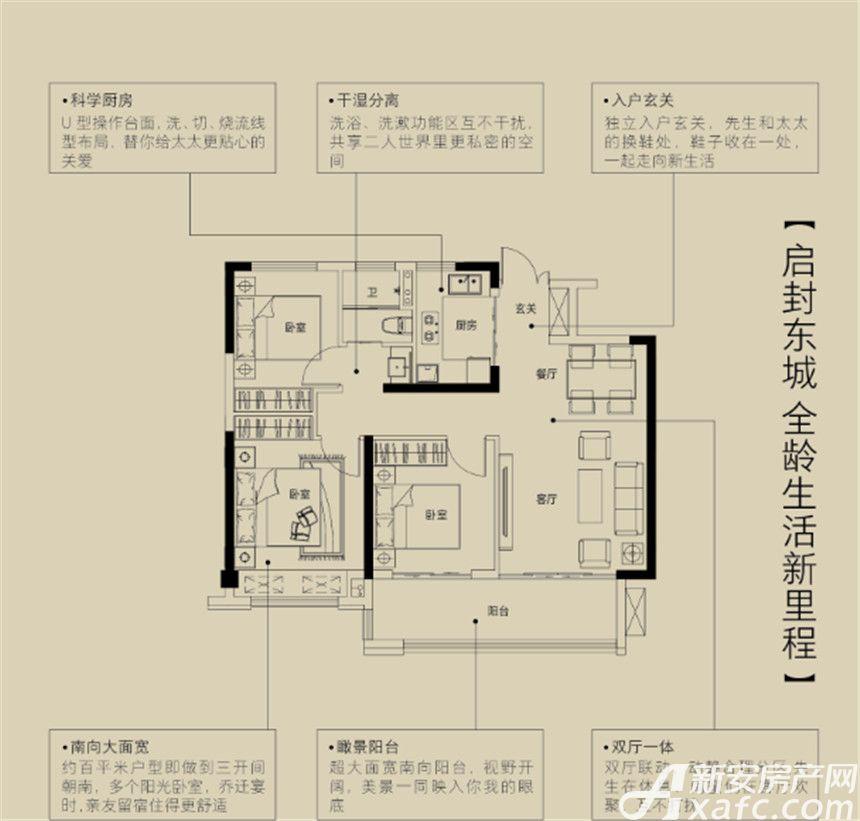 金鹏珑璟台金鹏珑璟台3室2厅95平米