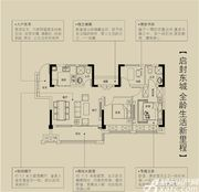 金鹏珑璟台100㎡户型3室2厅100㎡