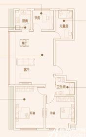 文德凯旋门洋房户型4室2厅97㎡