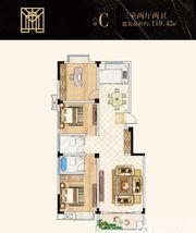 金地环球之光C户型3室2厅119.42㎡