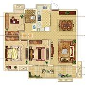 融信海亮·澜山府A13室2厅103㎡
