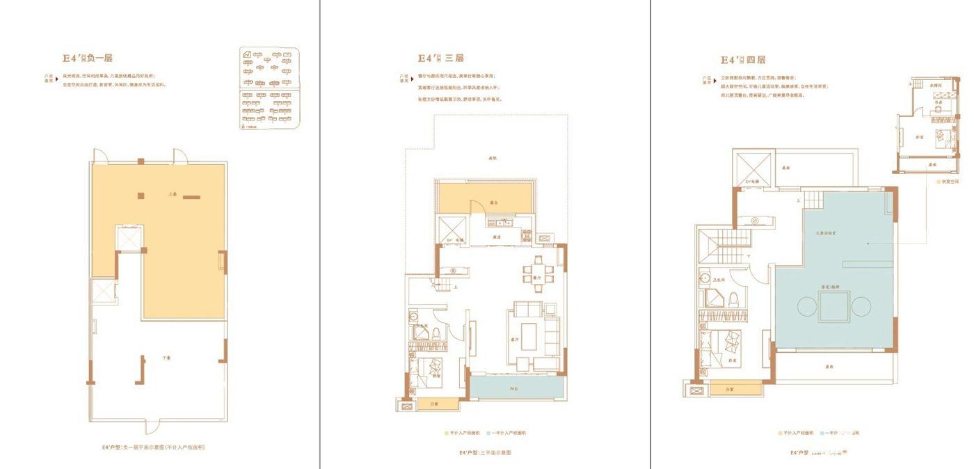 万创御香山E4'户型4室2厅176平米