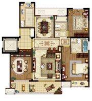 中锐尚城印象B户型3室2厅125㎡