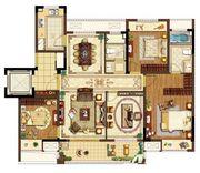 中锐尚城印象C户型4室2厅140㎡