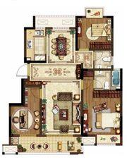 中锐尚城印象A户型3室2厅105㎡