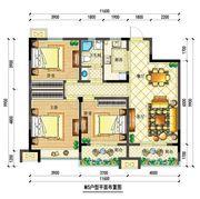 宇业依云红郡34#M5户型3室2厅119.88㎡