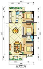 宇业依云红郡34#Q3户型3室2厅115.63㎡